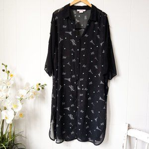 In Every Story Long Sheer Paris Blouse